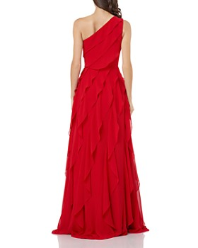 Carmen Marc Valvo Infusion - One-Shoulder Cascading Flounce Dress