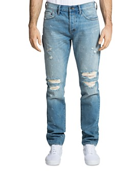 PRPS - Le Sabre Distressed Skinny Fit Jeans in Raphaello