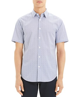 Theory - Veere Short-Sleeve Patterned Regular Fit Shirt