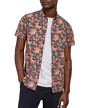 Ted Baker T-shirts ARCHI FLORAL SLIM FIT SHIRT