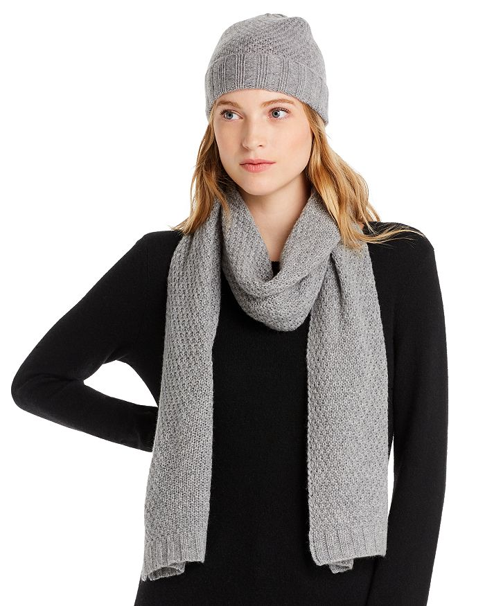 C by Bloomingdale's - Waffle Knit Cashmere Set - 100% Exclusive