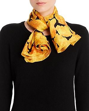 Kenzo Accessories PEONIES SQUARE SILK SCARF