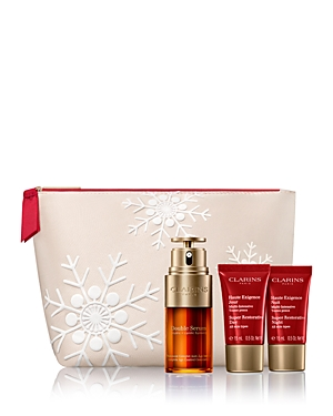 What It Is: A three-piece anti-aging gift set for replenished, illuminated skin. Powered by Harungana and Montpellier Rock-rose extracts, Super Restorative targets age spots and visibly reduces the appearance of deep wrinkles for more replenished youthful-looking skin. Set Includes: - Super Restorative Day Cream - All Skin Types, 1.7 oz. (Full Size) - Super Restorative Night Cream - All Skin Types, 0.5 oz. (Travel Size) - Super Restorative Hand Cream - All Skin Types, 1 oz. (Travel Size) What It