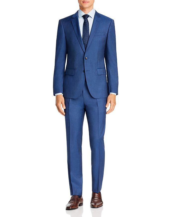 BOSS - Huge/Genius Twill Solid Slim Fit Suit