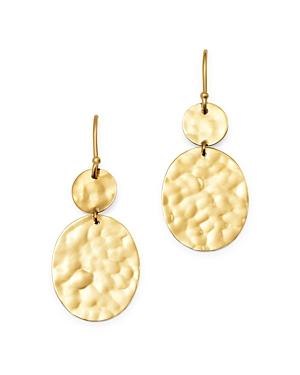 Ippolita 18K Yellow Gold Classico Hammered Circle Drop Earrings