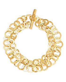 IPPOLITA - 18K Yellow Gold Classico Hammered Link Bracelet