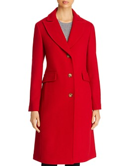 kate spade new york - Twill Peaked Lapel Long Coat