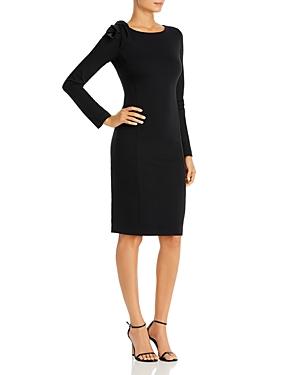 Armani Collezioni Emporio Armani Body-Con Dress With Shoulder Detail In Black