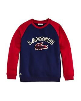 Lacoste - Boys' Raglan Croc Sweatshirt - Little Kid, Big Kid