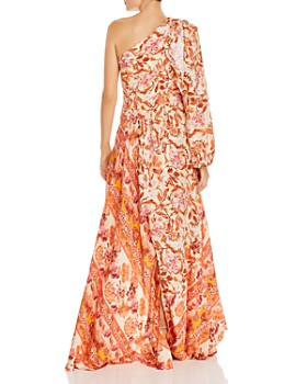 Amur - Piper Silk Asymmetric One-Shoulder Maxi Dress