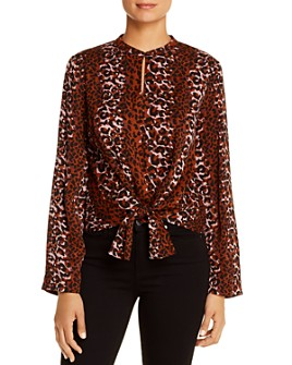 Scotch & Soda - Leopard-Print Tie-Hem Top