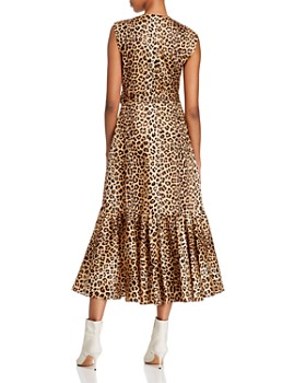 Rebecca Taylor - Sleeveless Leopard-Print Wrap Dress