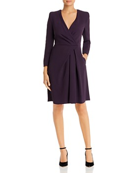 Armani - Faux-Wrap Fit-and-Flare Dress