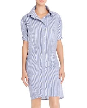 AQUA - Striped Shirt Dress - 100% Exclusive