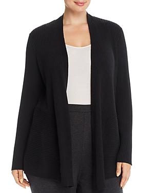 Eileen Fisher Plus Ribbed Wool Cardigan