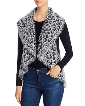 Sioni - Draped Leopard Print Sweater Vest