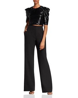 Black Halo - Tressa Convertible Sequin-Detail Jumpsuit