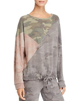 Vintage Havana - Color-Block Camo Sweatshirt