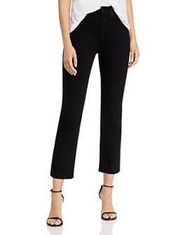 rag & bone - Nina High-Rise Ankle Cigarette Jeans in No Fade Black