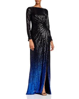 Tadashi Shoji - Ombré Sequin Gown