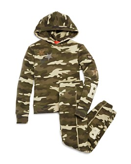 Butter - Girls' Camo Open-Back Hoodie & Sweatpants - Little Kid, Big Kid