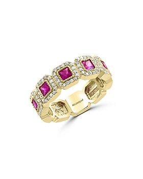 Bloomingdale's - Ruby & Diamond Milgrain Ring in 14K Yellow Gold - 100% Exclusive