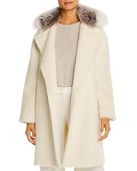 Maximilian Furs - Fox Fur-Collar Alpaca-Blend Coat  - 100% Exclusive