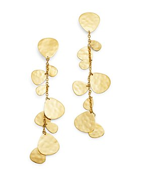 IPPOLITA - 18K Yellow Gold Classico Crinkle Cascade Clip-On Earrings