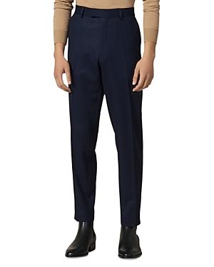 Sandro Notch Flannel 120\\\'s Slim Fit Suit Pants-Men