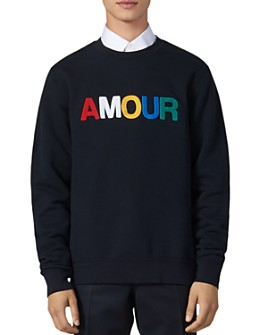 Sandro - Amour Fleece Crewneck Sweatshirt