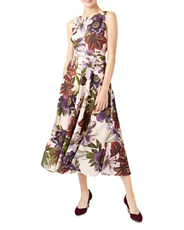 HOBBS LONDON - Carly Floral Fit-and-Flare Dress