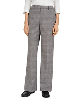 Gerard Darel - Lea Checked Wide-Leg Trousers