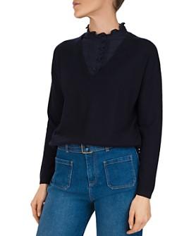 Gerard Darel - Removable Bib V-Neck Sweater
