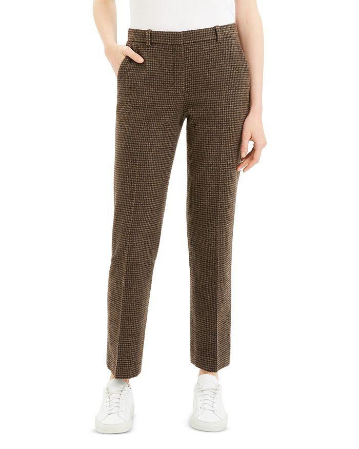 Theory - Checked Straight-Leg Pants