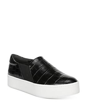 Vince - Women's Warren Croc-Embossed Platform Sneakers