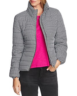 VINCE CAMUTO - Houndstooth Puffer Jacket