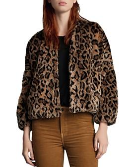 Velvet by Graham & Spencer - Anne Leopard Print Faux Fur Jacket
