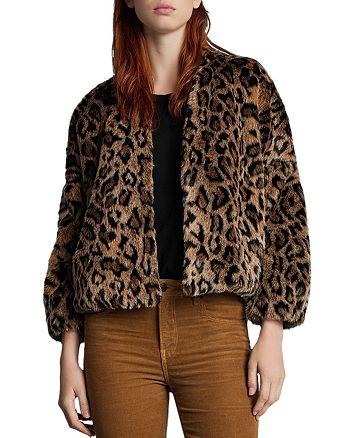 Velvet by Graham & Spencer Anne Leopard Print Faux Fur