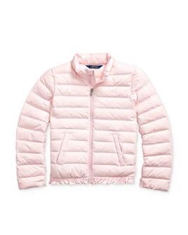 Ralph Lauren - Girls' Ruffle-Hem Down Jacket - Big Kid