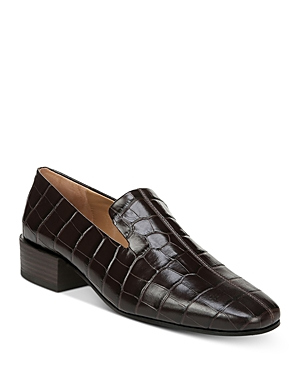 Via Spiga Loafers WOMEN'S BAUDELAIRE EMBOSSED-LEATHER LOAFERS