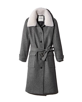 MARRON EDITION by W CONCEPT - Ecru Collar Long Coat