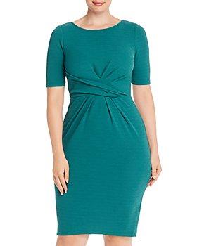 Adrianna Papell Plus - Rio Twist-Front Dress