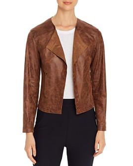 Lyssé - Trent Faux-Leather Open Jacket
