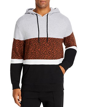 Pacific & Park - Leopard Color-Block Hoodie - 100% Exclusive
