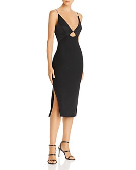 Finders Keepers - Paradise Plunging Cutout Midi Dress