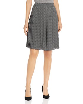 T Tahari - Pleated Herringbone Skirt