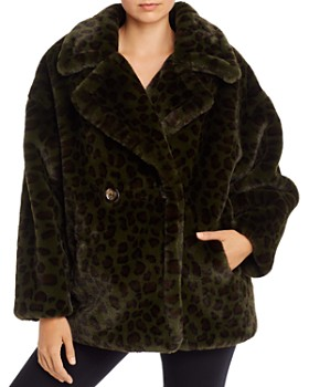 Apparis - Amelia Animal-Print Faux-Fur Coat