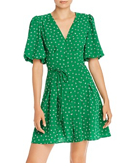 FRENCH CONNECTION - Adelise Light Floral-Print A-Line Dress