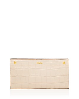 Furla - Croc-Embossed Leather Continental Wallet
