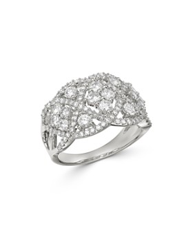 Bloomingdale's - Diamond Art Deco Statement Ring in 14K White Gold, 1.5 ct. t.w. - 100% Exclusive